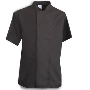 Tibard Black Classic Chefs Jacket Short Sleeve
