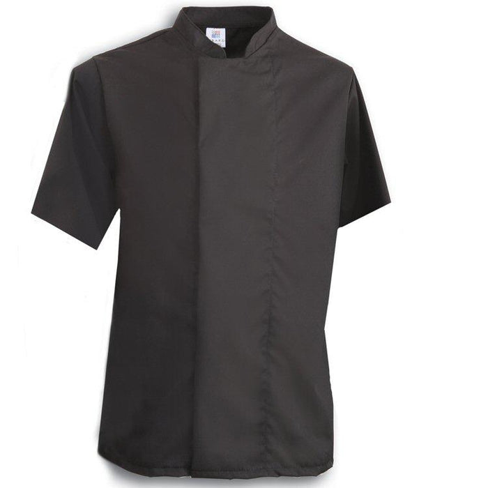 Tibard Black Chefs Jacket Short Sleeve