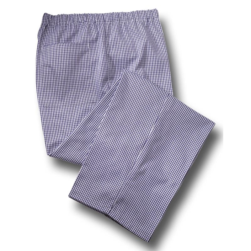 Tibard Gingham Blue/White Chefs Trousers