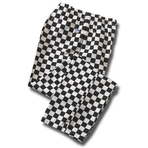 Tibard Elasticated Checkerboard Chefs Trousers