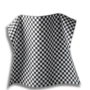 Tibard Black/White Checkerboard Waist Apron