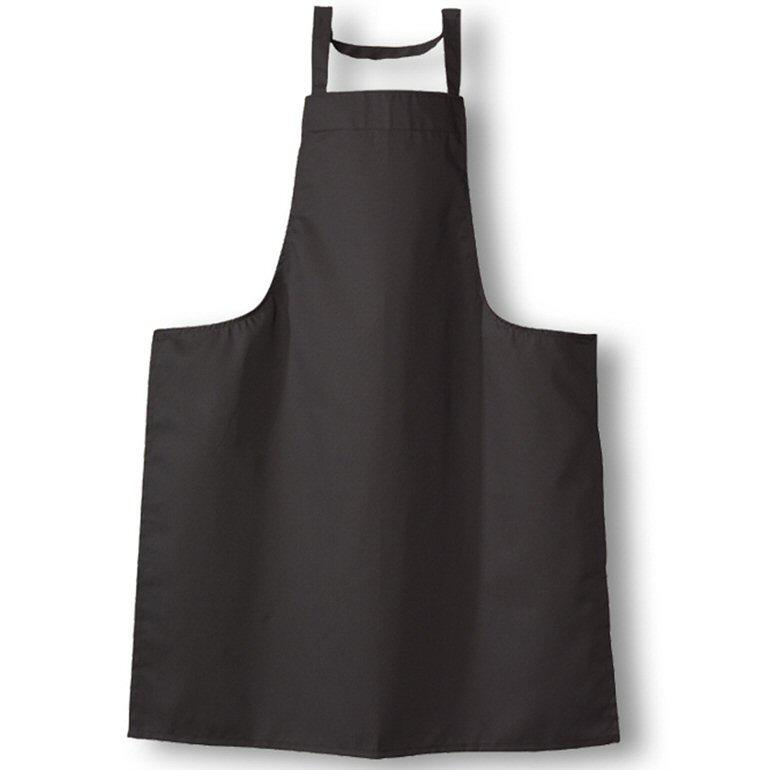 Tibard Black Cotton Bib Apron