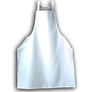 Tibard White Cotton Bib Apron