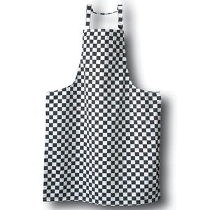 Tibard Black/White Checkerboard Bib Apron