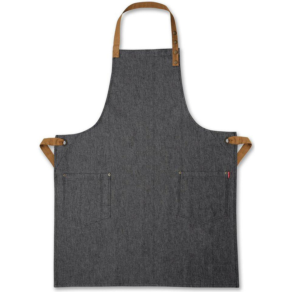 Oliver Harvey Black Denim Bib Apron