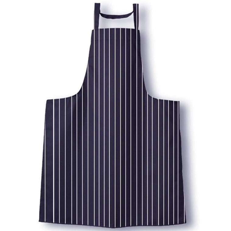 Tibard Navy/White Stripe Classic Butchers Bib Apron