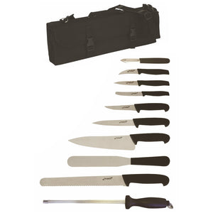 10 Piece Professional Chef Knife Set with Heavy Duty Knife Case