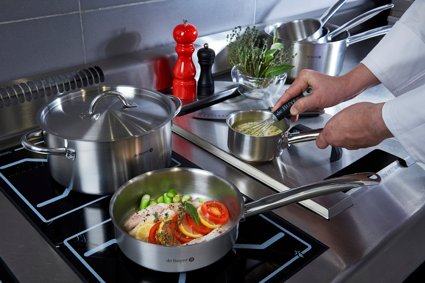 De Buyer Prim Appety Stainless Steel Saute Pan Bidfood Catering