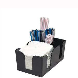 Black Six Compartment Bar Caddy