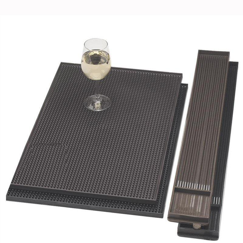 Bar Rail Mat Black 610x80mm