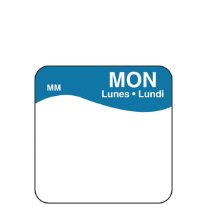 DayMark Removable Plain Square Label - Day of the Week