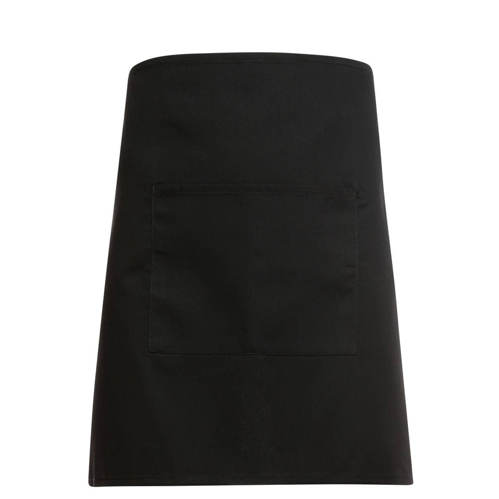 Tibard Black Square Waist Apron with Centre Pocket