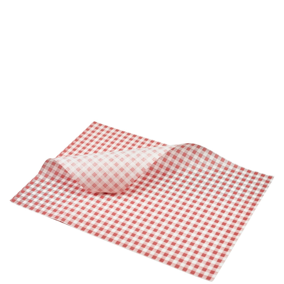 Greaseproof Paper Red Gingham Print