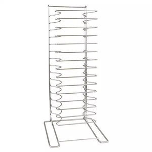 Pizza Pan Stack Rack in Chrome