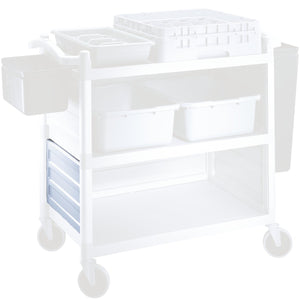 Cambro Black Shelf Panel Set for Utility Cart