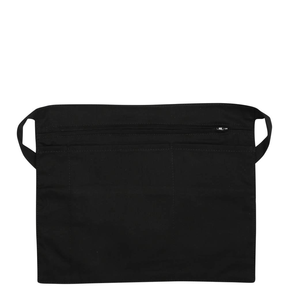 Tibard Black Zipped Money Pouch Waist Apron