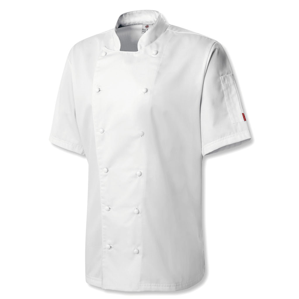 Oliver Harvey Oxford White Short Sleeve Chefs Jacket