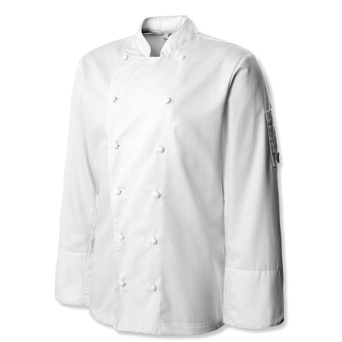Oliver Harvey Oxford White Long Sleeve Chefs Jacket