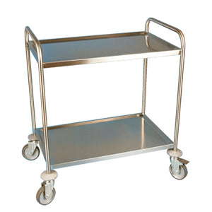2 Tier Stainless Steel Trolley