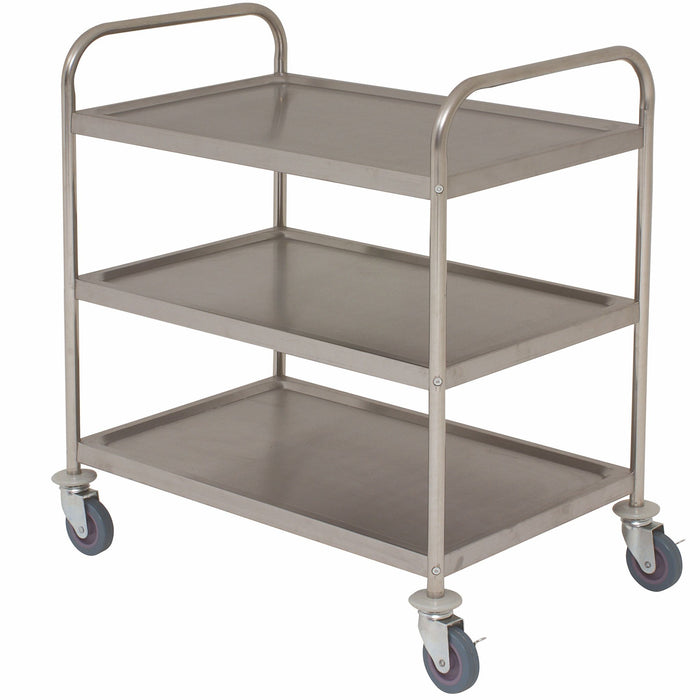 3 Tier Trolley Flat Packed Stainless Steel