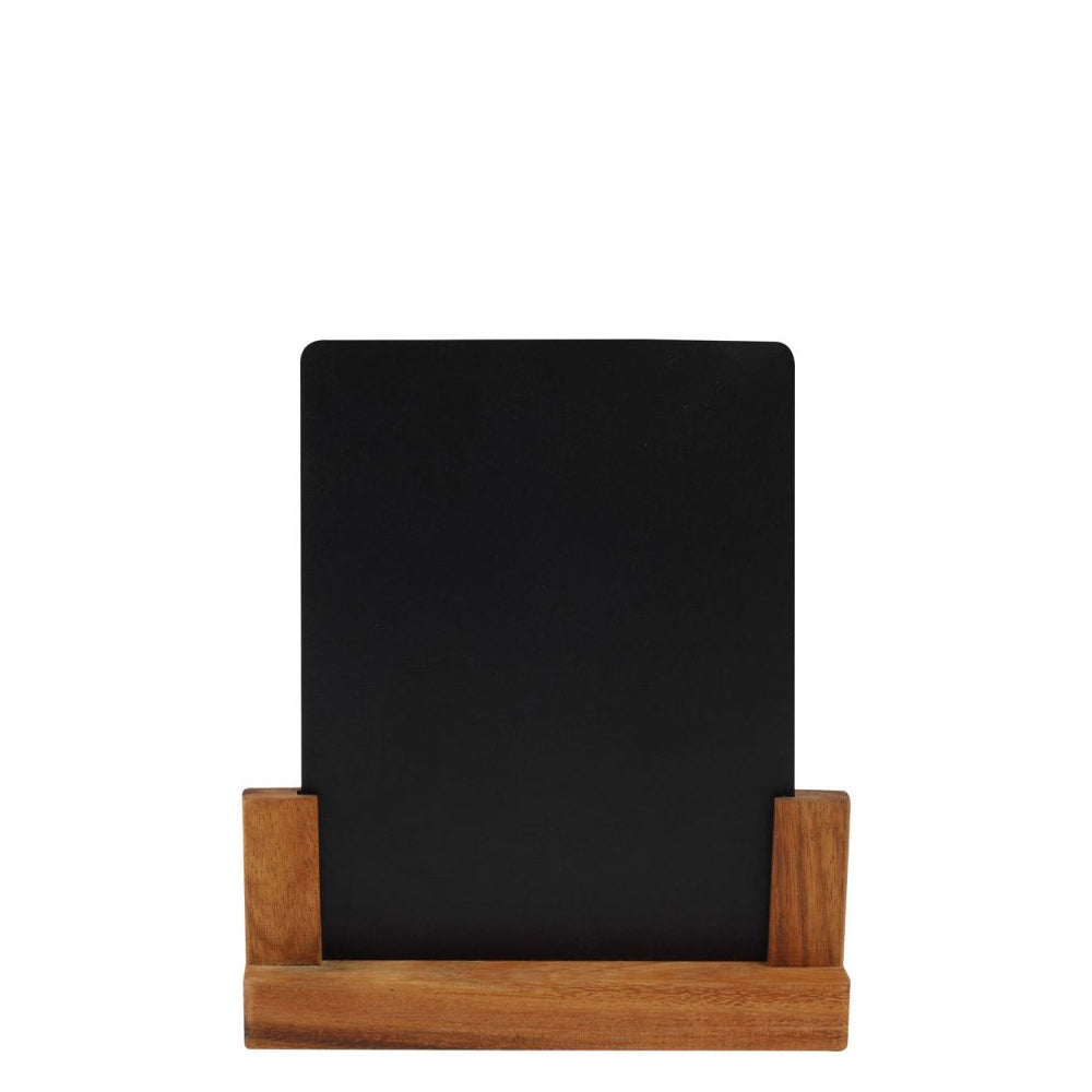 T&G Removable Chalk Board with Rustic Acacia Base