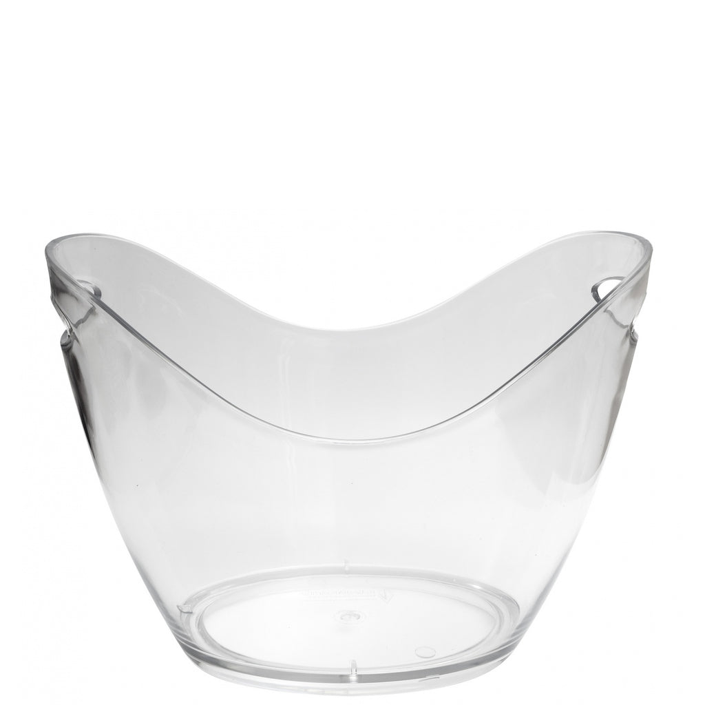 Clear Plastic Wine and Champagne Cooler