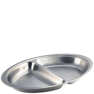 Stainless Steel Vegetable Dish Divided