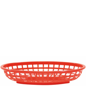 Plastic 235mm Oval Basket Flat Bottom