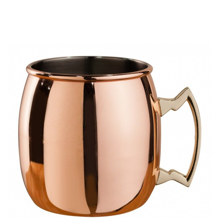 Mezclar Copper Plated Curved Moscow Mule Mug 500ml