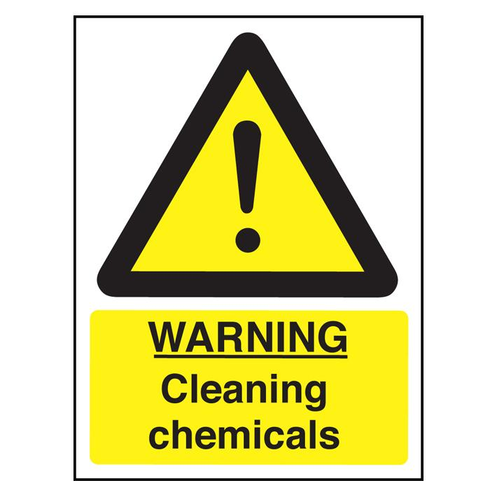 Sign - Cleaning Chemicals Safety Notice