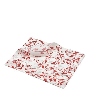 Greaseproof Paper Red Floral Print
