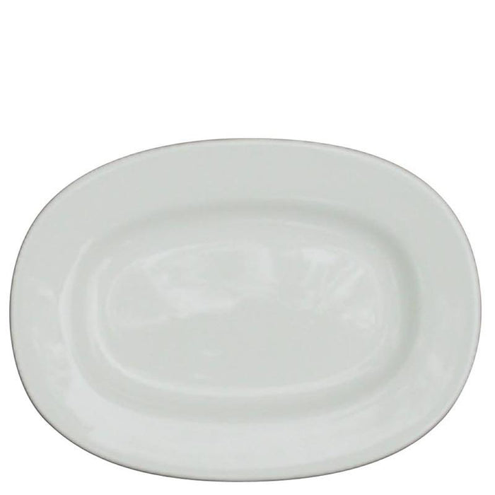 Churchill Alchemy White Rimmed Oval Dish