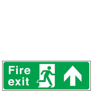 Sign - Fire Exit Man Right Arrow Up