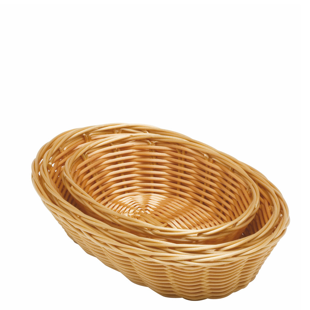 Oval Natural Double Weave Basket