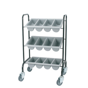 Cutlery Trolley Mild Steel With 3 Cutlery Boxes