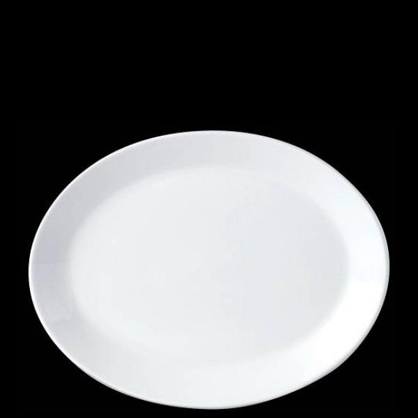 Steelite Simplicity White Oval Plate Coupe