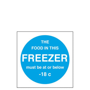Sign - Freezer Temperature Notice