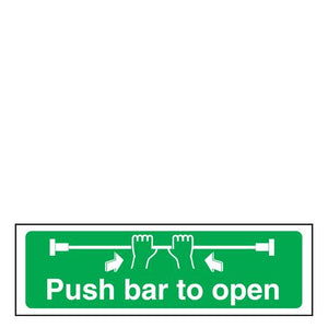 Sign - Push Bar To Open