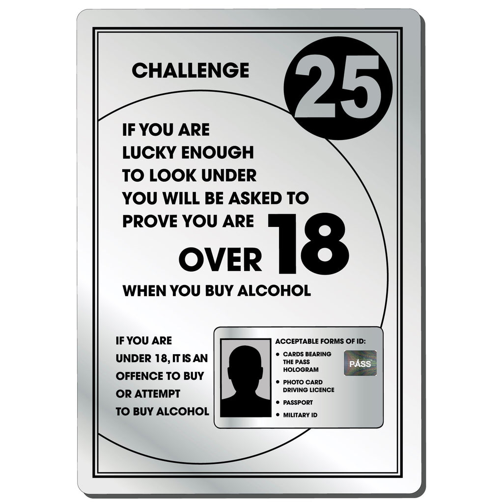 Challenge 25 Bar Notice in Silver