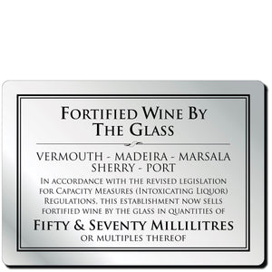 Wine By The Glass 50ml Notice in Silver