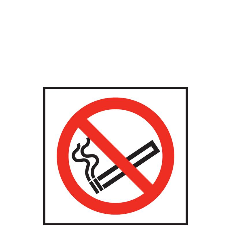 Sign - No Smoking Symbol White