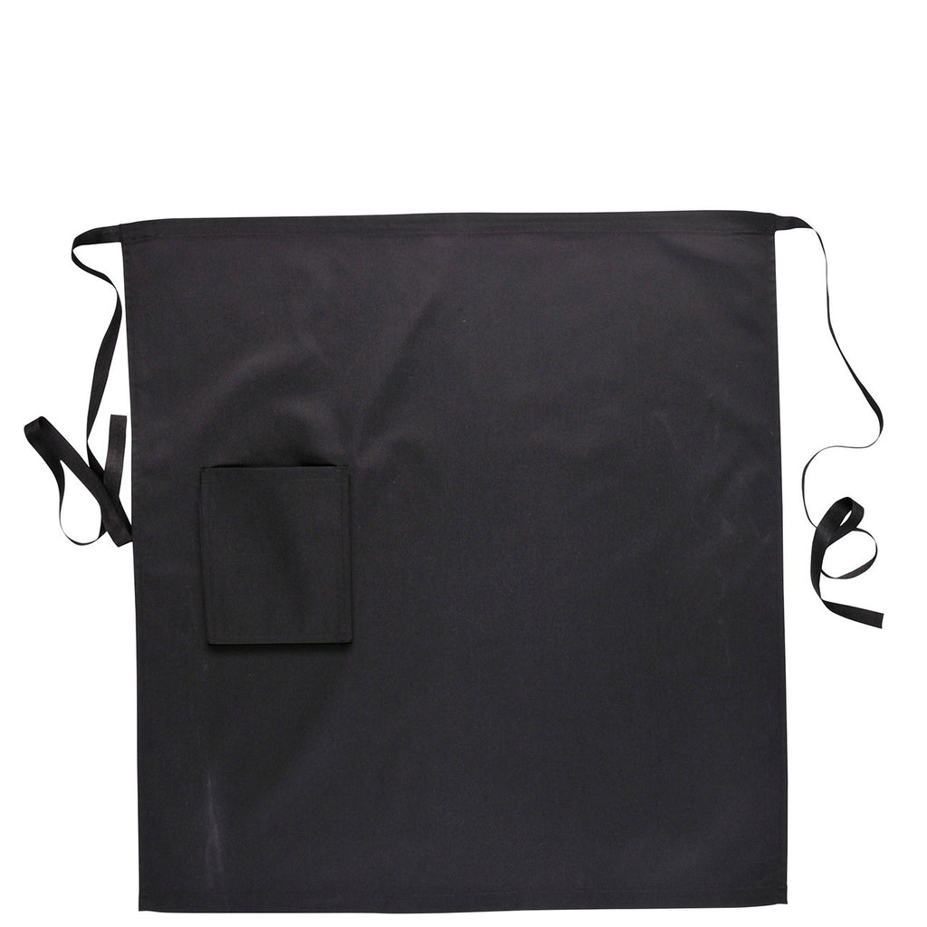 Black Waist Apron With Pocket