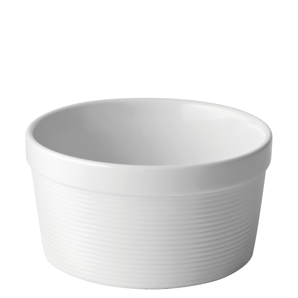 Utopia White Ribbed Soufflé/Pie Dish 11cm
