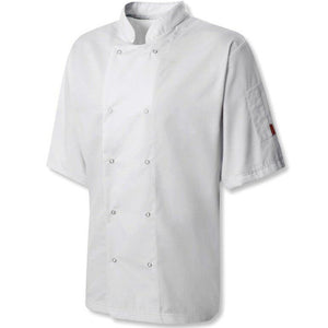 Oliver Harvey Devon White Short Sleeve Chefs Jacket