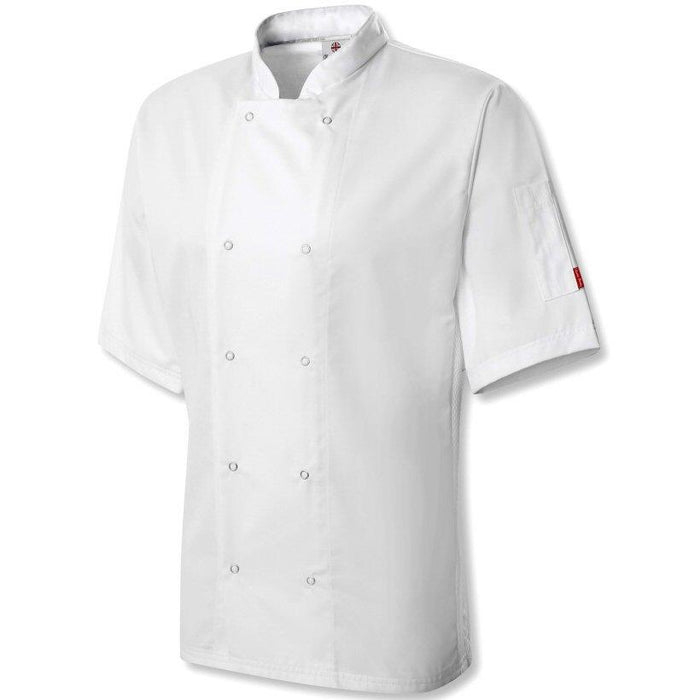 Oliver Harvey Cheshire White Short Sleeve Chefs Jacket