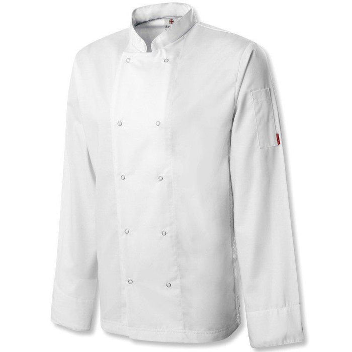 Oliver Harvey Cheshire White Long Sleeve Chefs Jacket