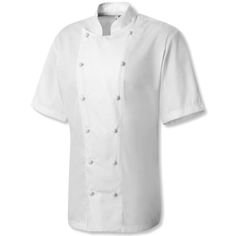 Oliver Harvey Dorset White Short Sleeve Chefs Jacket