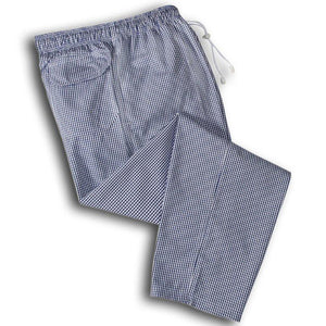 Oliver Harvey Lancashire Blue Gingham Chefs Trousers
