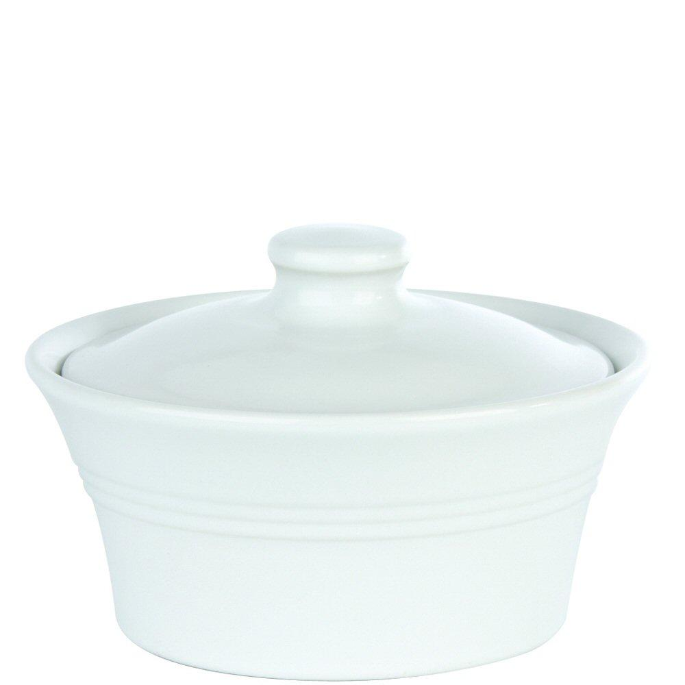 White Casserole Dish with Lid