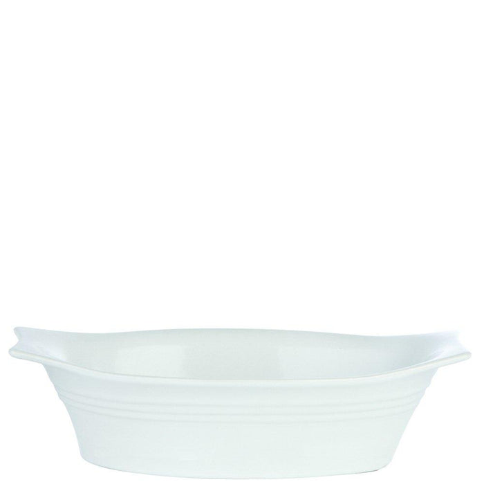 White Oval Eared Baking Dish
